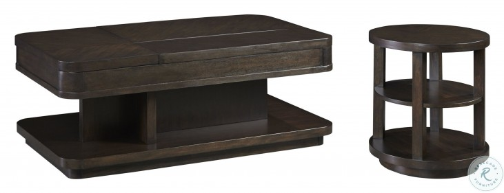 Grove Park Chocolate Mahogany Rectangular Double Lift Occasional Table Set From Progressive Furniture Coleman Furniture