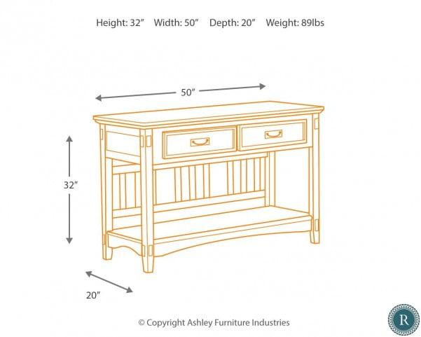 Cross Island Console Sofa Table