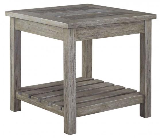 Veldar Whitewash Square End Table