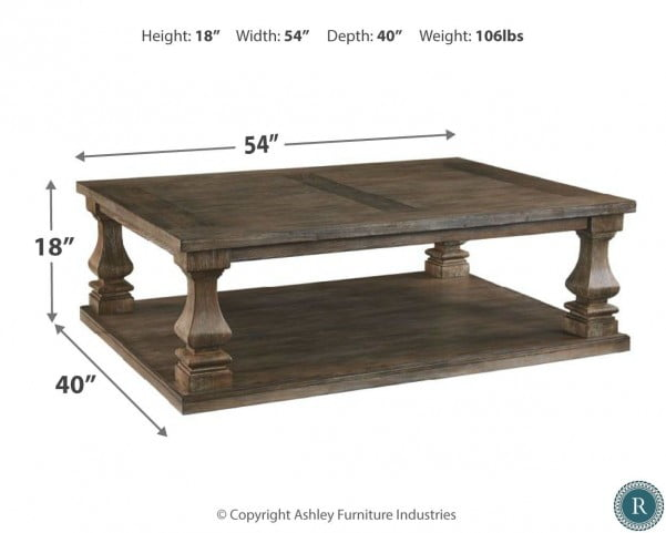70ea206172c346 LOOKS GREAT WITH. Image of item Johnelle Gray Rectangular Cocktail Table