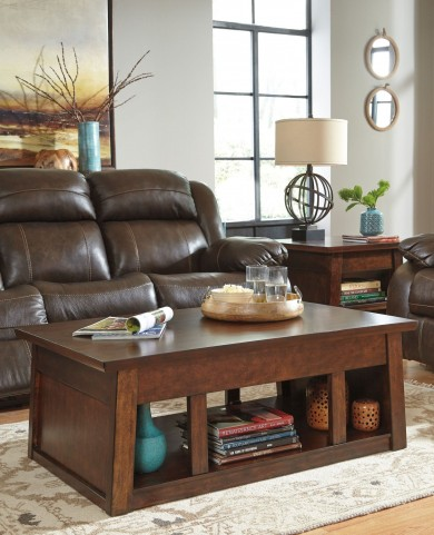 Harpan Reddish Brown Occasional Table Set