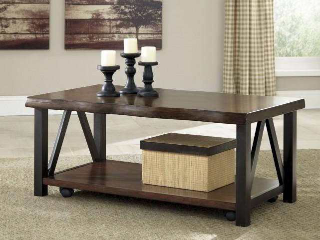 Esmarina Walnut Brown Occasional Table Set