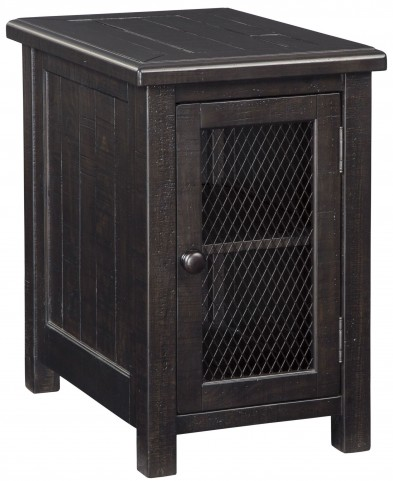 Sharlowe Distressed Worn Dark Charcoal Chairside End Table