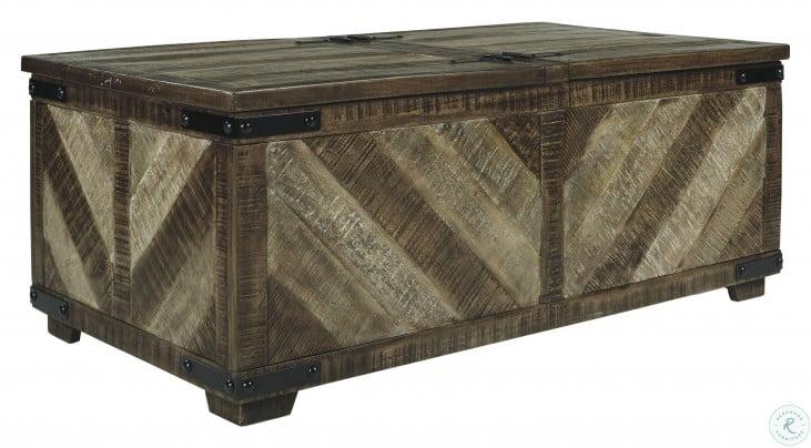 Cordayne Rustic Brown Storage Coffee Table