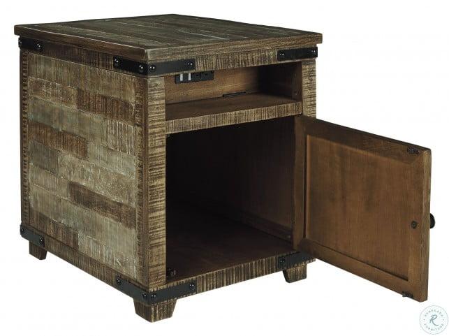 Cordayne Rustic Brown Chairside Table