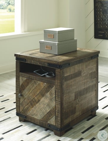 Cordayne Rustic Brown Occasional Table Set With Storage