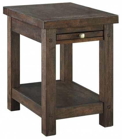 Windville Dark Brown Chairside End Table