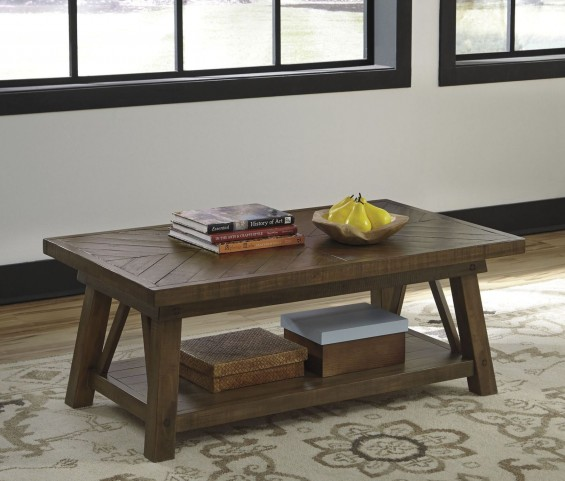 Dondie Rustic Brown Occasional Table Set