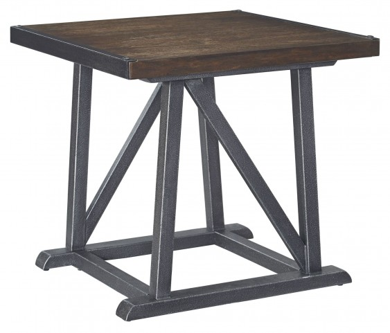 Zenfield Medium Brown Square End Table