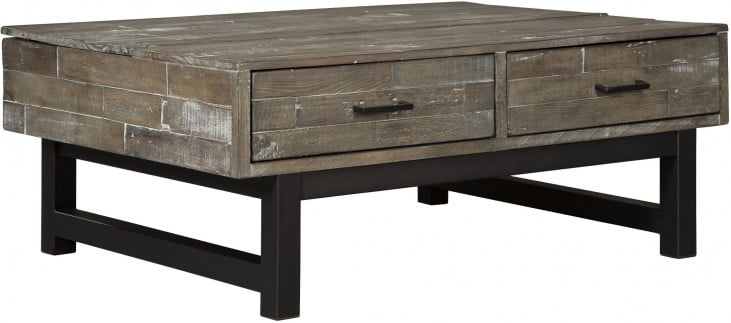 Mondoro Gray and Brown Lift Top Cocktail Table