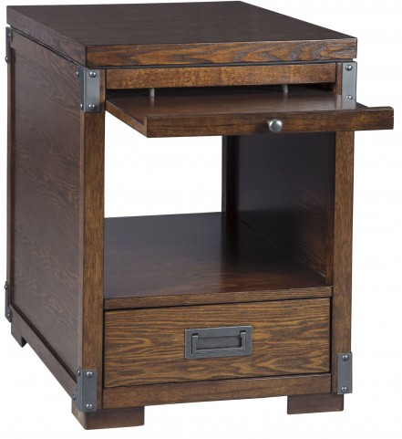 Jakeley Medium Brown Square End Table