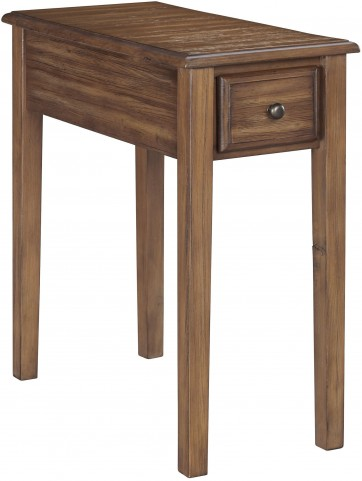 Warm Brown Chair Side End Table