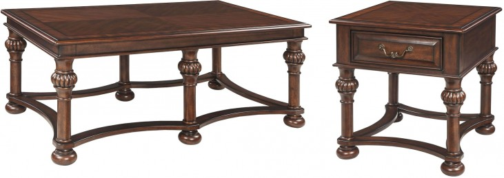 Beisterfield Brown Rectangular Occasional Table Set