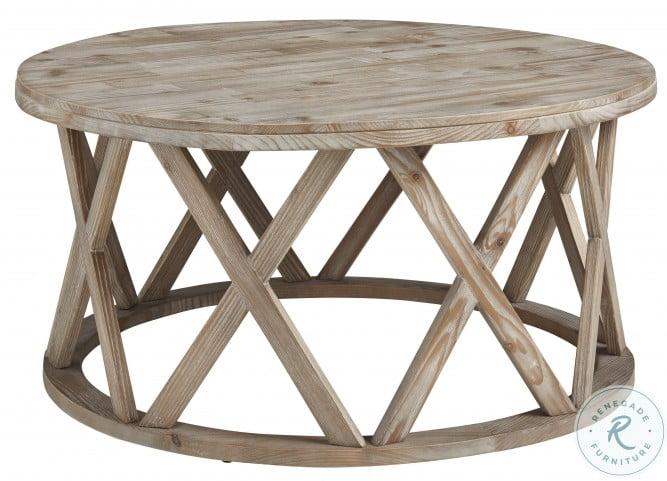 Glasslore Light Grayish Brown Coffee Table