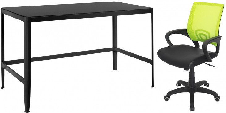 Pia Black Home Office Set