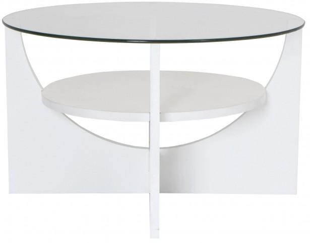 U Shaped White Coffee Table