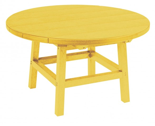 "Generations Yellow 32"" Round Leg Cocktail Table"