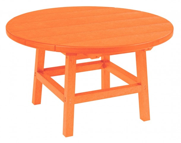 "Generations Orange 32"" Round Leg Cocktail Table"