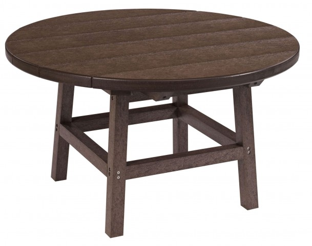 """Generations Chocolate 32"""" Round Leg Cocktail Table"""