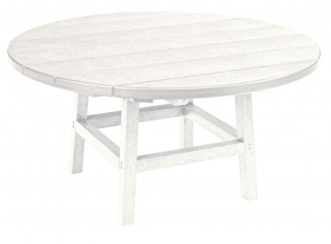 "Generations White 37"" Round Leg Cocktail Table"