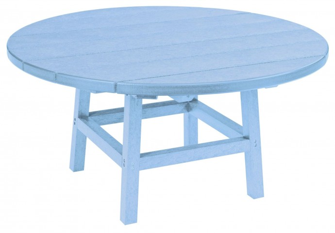"Generations Sky Blue 37"" Round Leg Cocktail Table"