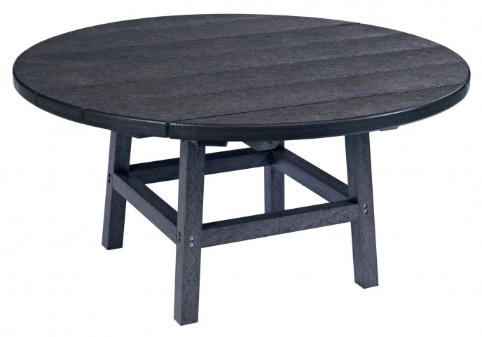 """Generations Black 37"""" Round Leg Cocktail Table"""