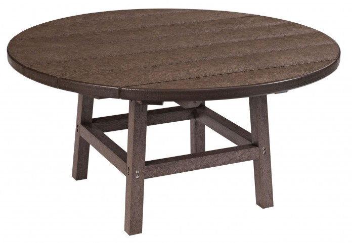 """Generations Chocolate 37"""" Round Leg Cocktail Table"""
