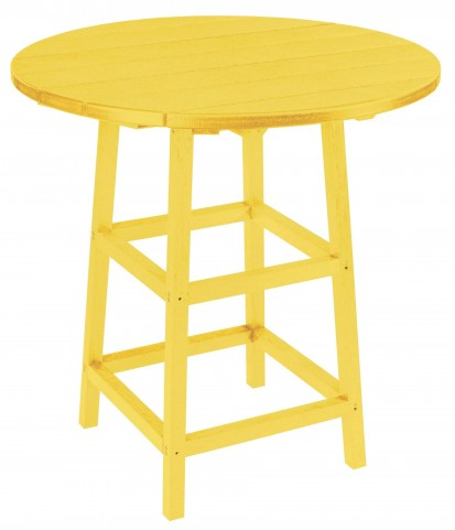 "Generations Yellow 32"" Round Leg Pub Height Table"