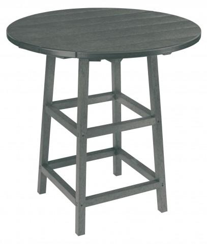 "Generations Slate Grey 32"" Round Leg Pub Height Table"