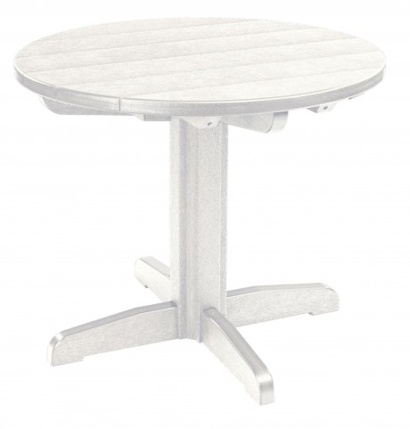 """Generations White 32"""" Round Pedestal Dining Table"""