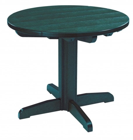 "Generations Green 32"" Round Pedestal Dining Table"