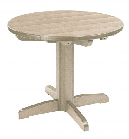 """Generations Beige 32"""" Round Pedestal Dining Table"""