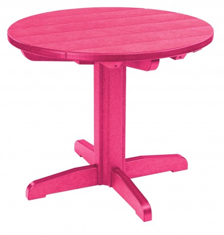 "Generations Fuschia 32"" Round Pedestal Dining Table"