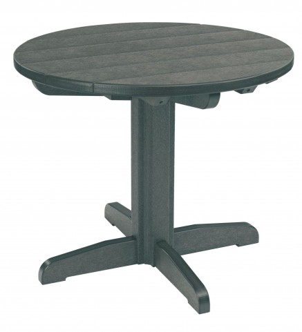 "Generations Slate Grey 32"" Round Pedestal Dining Table"