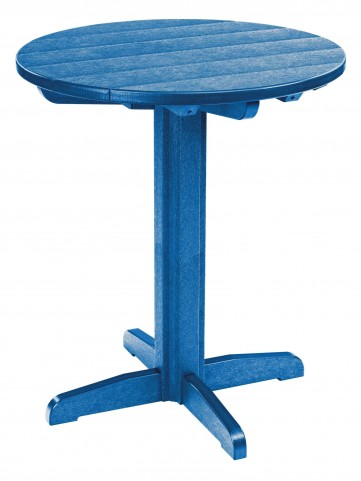 """Generations Blue 32"""" Round Pub Height Pedestal Table"""