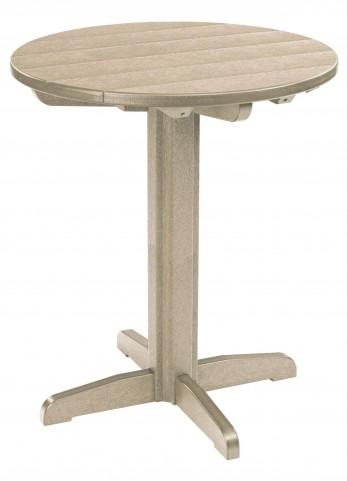 "Generations Beige 32"" Round Pub Height Pedestal Table"