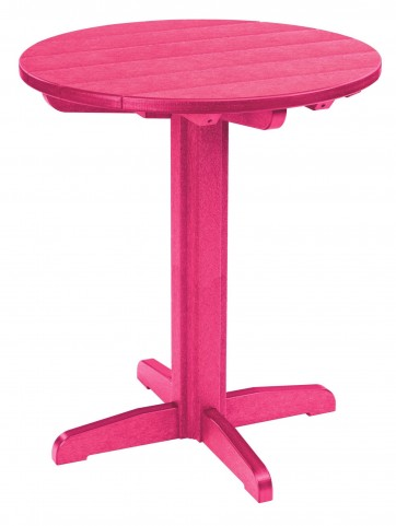 "Generations Fuschia 32"" Round Pub Height Pedestal Table"