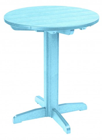 "Generations Aqua 32"" Round Pub Height Pedestal Table"