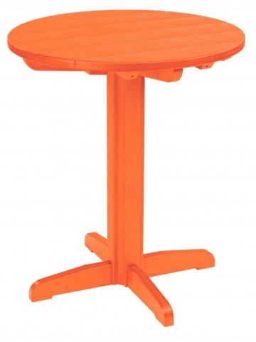 "Generations Orange 32"" Round Pub Height Pedestal Table"