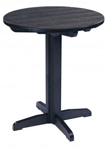 "Generations Black 32"" Round Pub Height Pedestal Table"