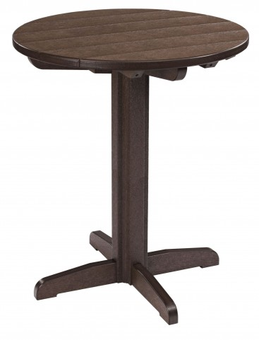 "Generations Chocolate 32"" Round Pub Height Pedestal Table"