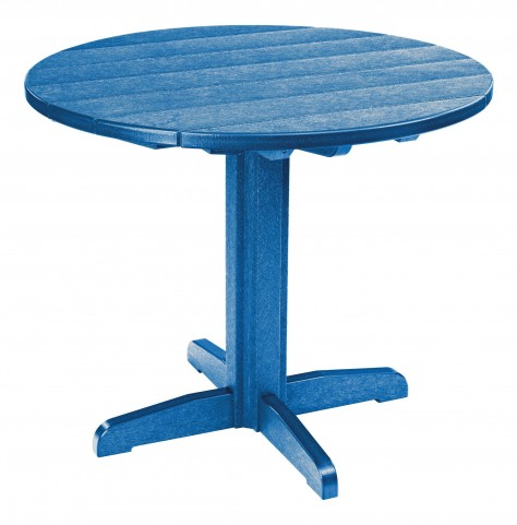 "Generations Blue 37"" Round Pedestal Dining Table"