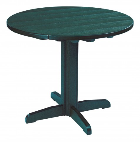 """Generations Green 37"""" Round Pedestal Dining Table"""
