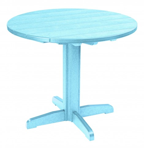"Generations Aqua 37"" Round Pedestal Dining Table"