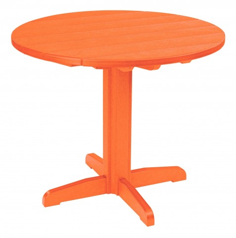 "Generations Orange 37"" Round Pedestal Dining Table"