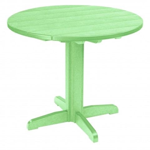 "Generations Lime Green 37"" Round Pedestal Dining Table"