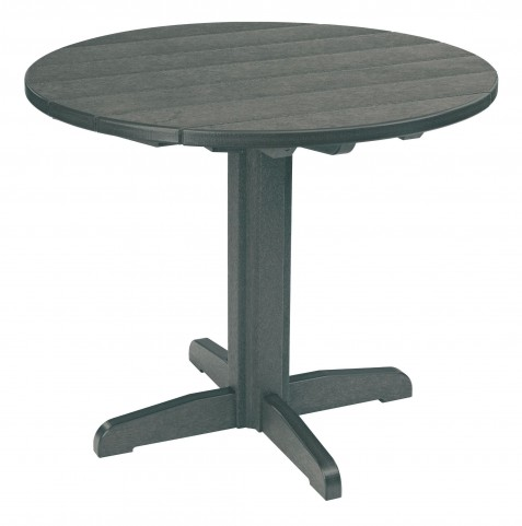"""Generations Slate Grey 37"""" Round Pedestal Dining Table"""