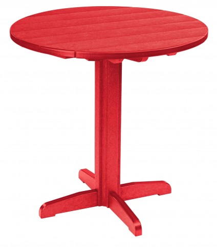 """Generations Red 37"""" Round Pub Height Pedestal Table"""