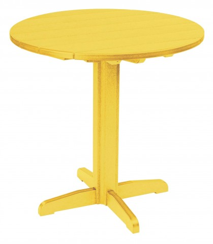 "Generations Yellow 37"" Round Pub Height Pedestal Table"