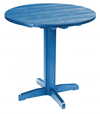 """Generations Blue 37"""" Round Pub Height Pedestal Table"""